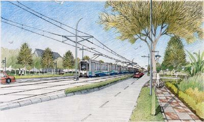 Rendering of Link LRT in arterial