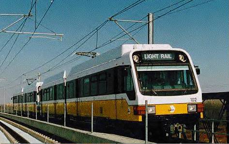 photo of DART LRT train