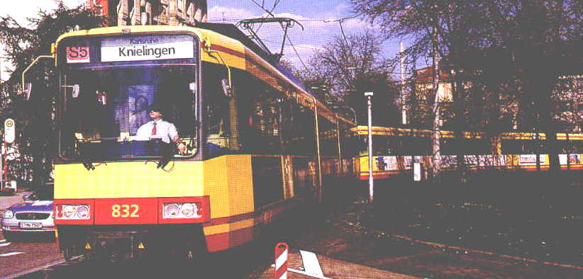 Cameo of Karlsruhe LRT train