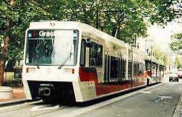 photo of Portland LRT street