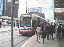 photo of tram on street in UK