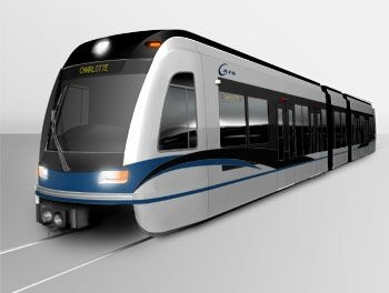 Charlotte light rail vehicle (sim.)