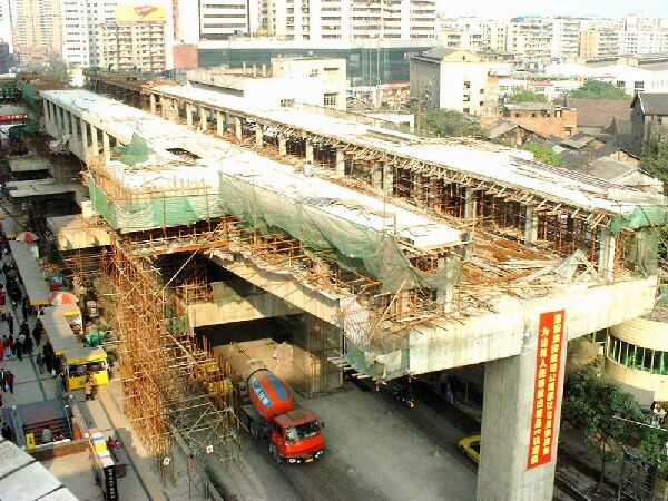 Chongqing station construction