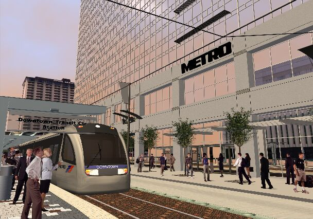 Houston LRT simulation