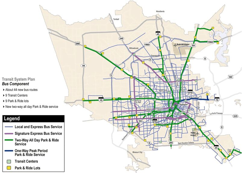 Houston Public Transportation Map Indiana Map - Metro rail houston map