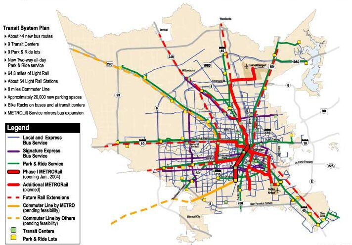 Houston Train Map Indiana Map - Metro rail houston map