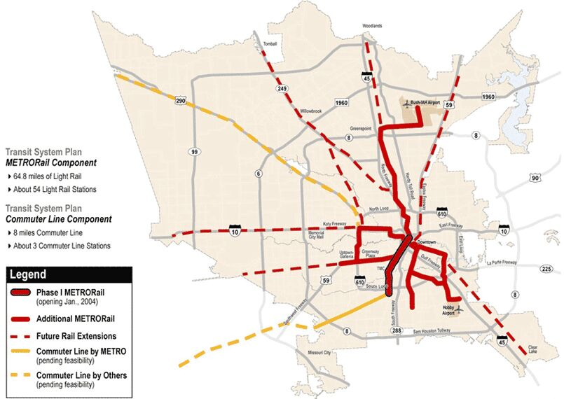 So What Is The Deal With Future Light Rail Expansion Houston - Metro rail houston map