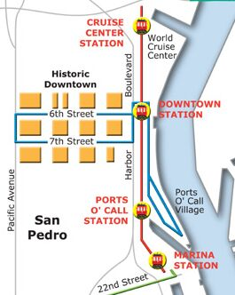 San Pedro Red Car Line map