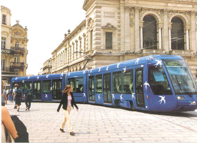 LRT in Montpellier CBD