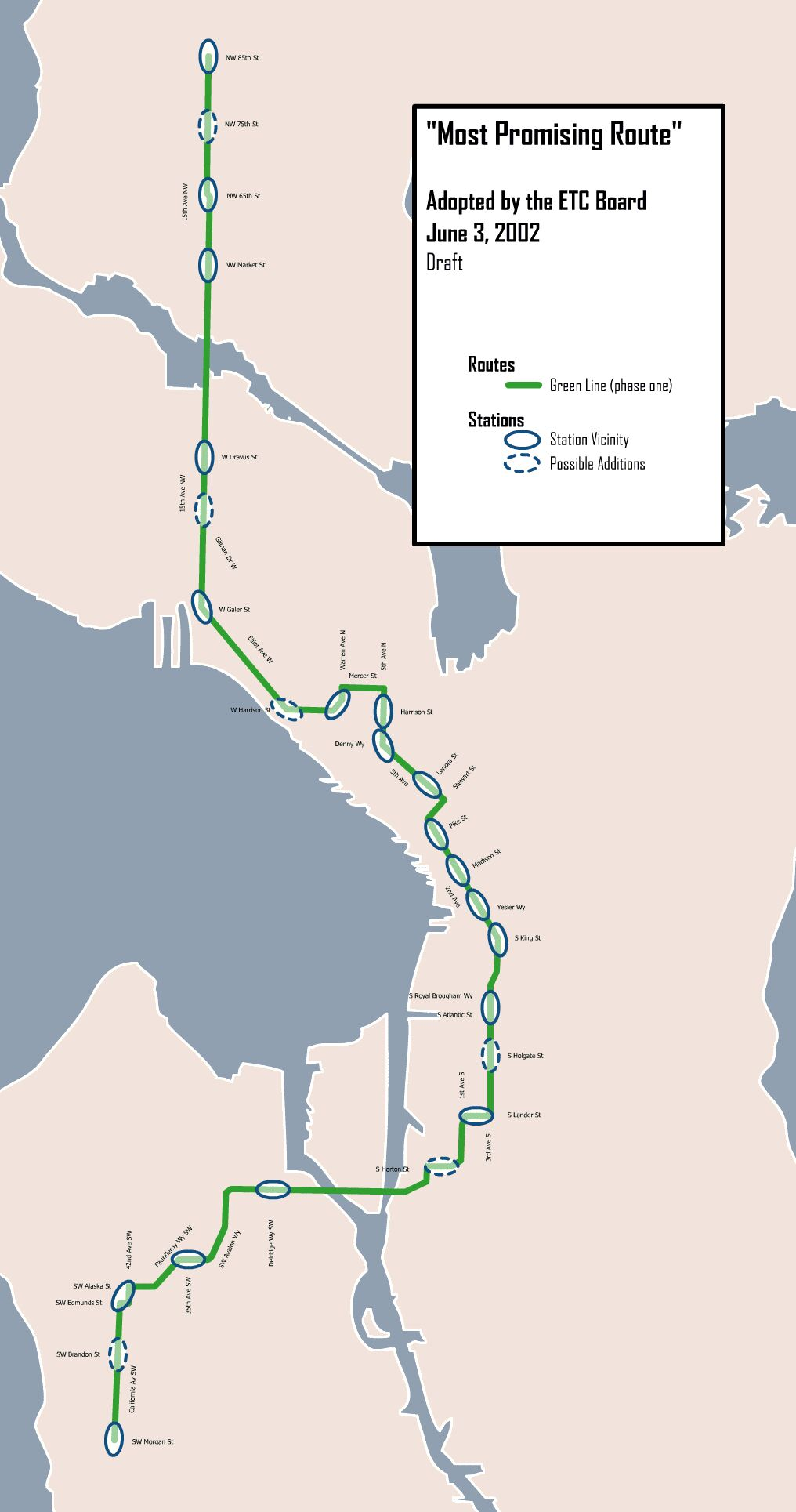 Green Line monorail map