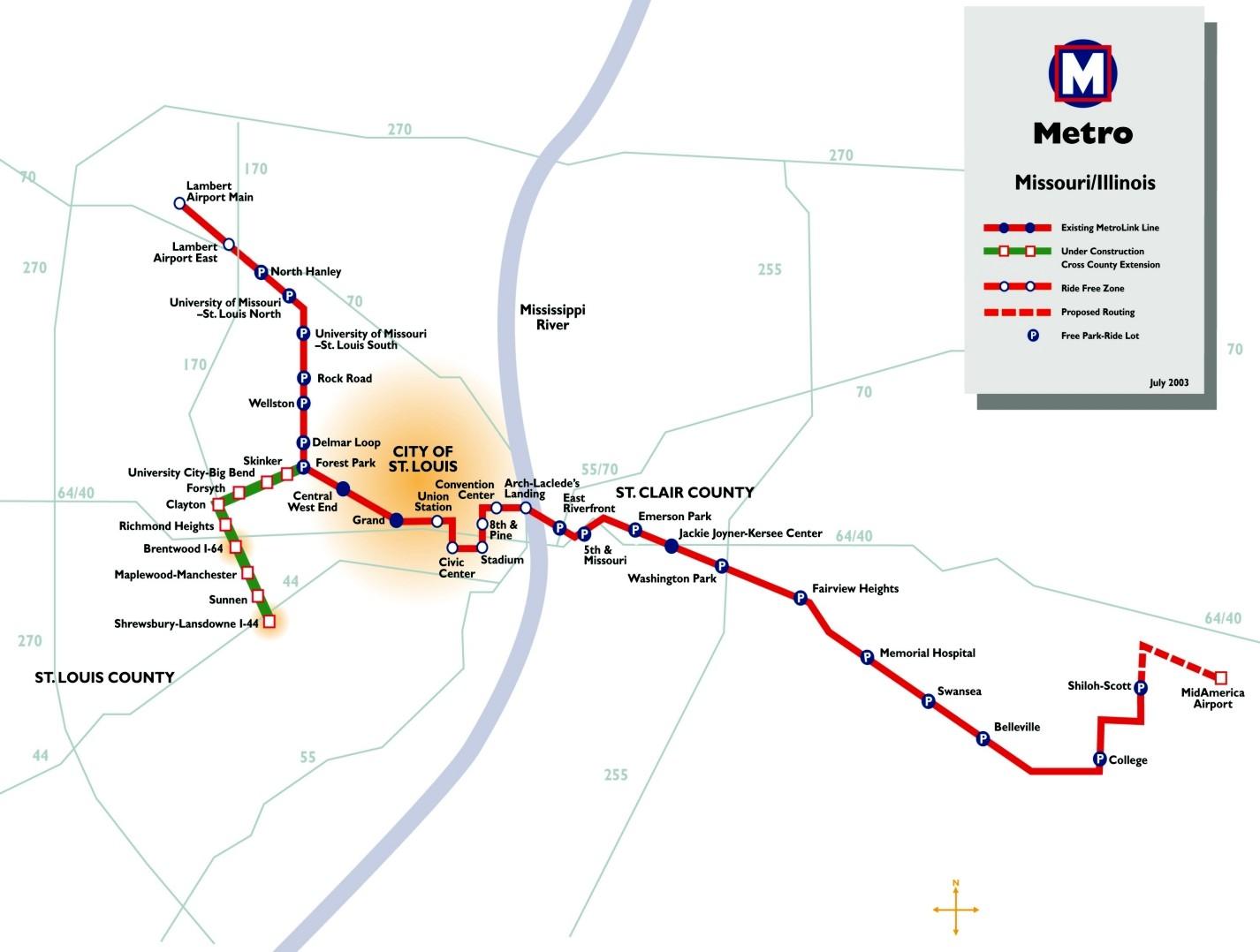 St Louis MetroLink CrossCounty light rail Nashville commuter rail