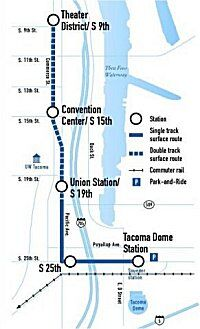 Tacoma LRT map