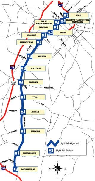 Charlotte Lynx Light Rail Transit Line Opens Light Rail Now
