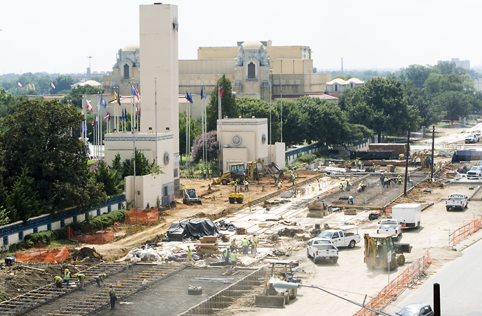 Fair Park station construction