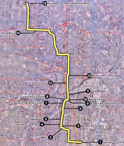 KC LRT map