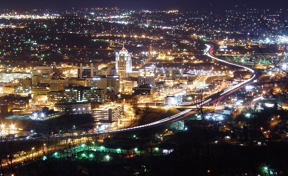 Roanoke cityscape
